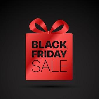 Etiqueta de compras de viernes negro.