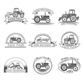 Etiqueta de controlador de tractor