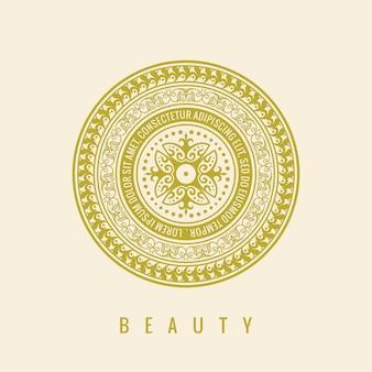 Etiqueta cosmética de plantilla de diseño de logotipo