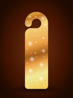 Etiqueta de etiqueta de marcador con icono de estrellas. guía de lectura de decoración y tema de la literatura. des color