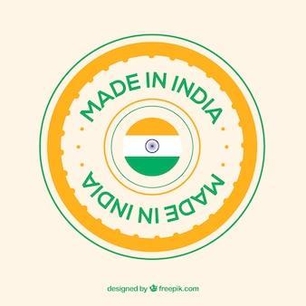 Etiqueta de made in india