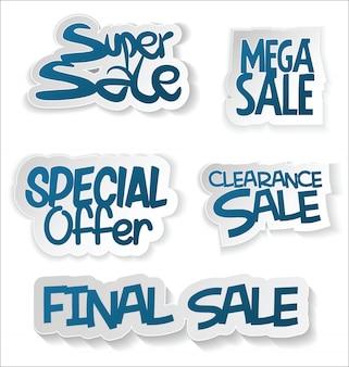 Etiqueta de venta moderna y colección de etiqueta
