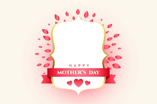 Etiqueta decorativa del día de la madre con espacio de texto.