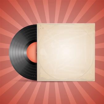 Etiqueta de disco de vinilo.