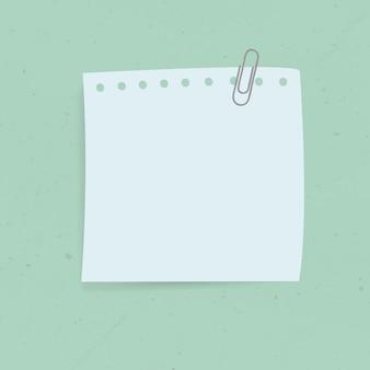Etiqueta engomada azul de la nota del recordatorio