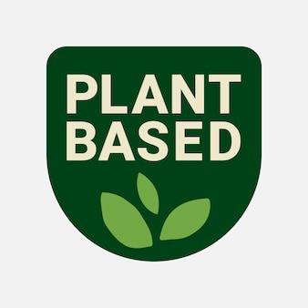 Etiqueta engomada del envasado de alimentos del vector del logotipo de la empresa basada en plantas