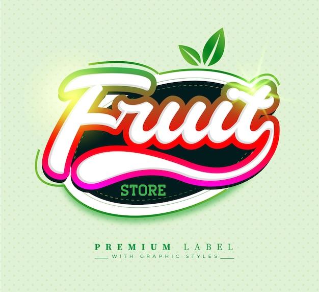 Etiqueta engomada de la etiqueta de la fruta