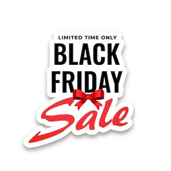 Etiqueta engomada de la venta de viernes negro sobre fondo blanco