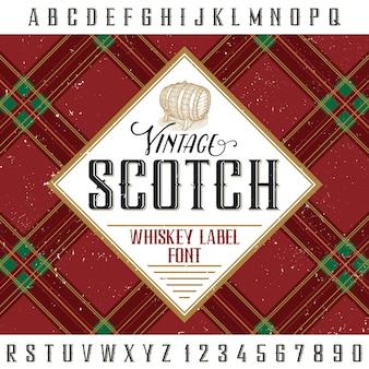 Etiqueta escocesa vintage