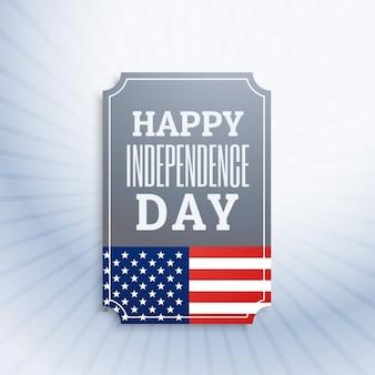 Etiqueta de feliz día de la independencia