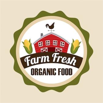 Etiqueta fresca de granja