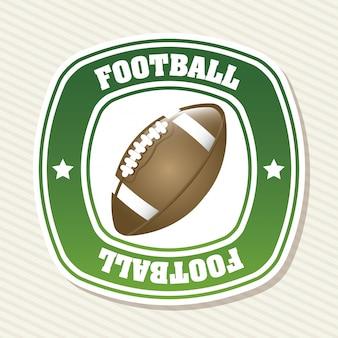 Etiqueta de fútbol sobre fondo blanco ilustración vectorial