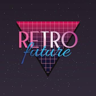 Etiqueta de futuro retro