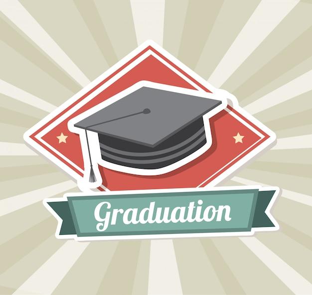 Etiqueta de graduación