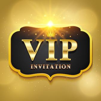 Etiqueta de invitación vip de lujo