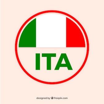 Etiqueta de italia