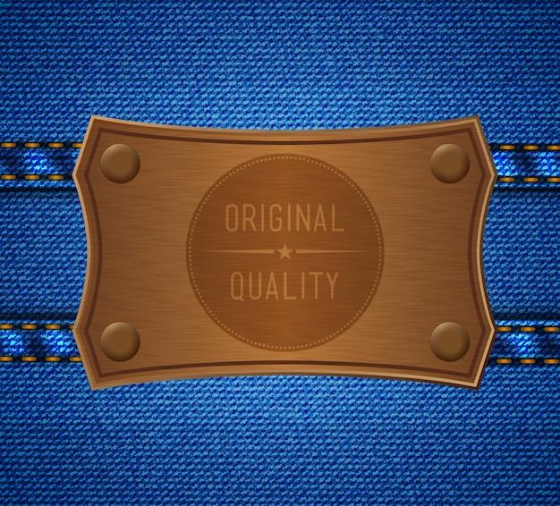 Etiqueta de jeans. calidad original
