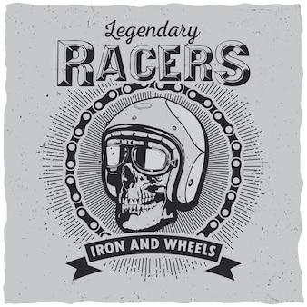 Etiqueta lagendary racers