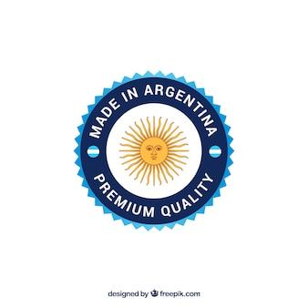 Etiqueta de made in argentina