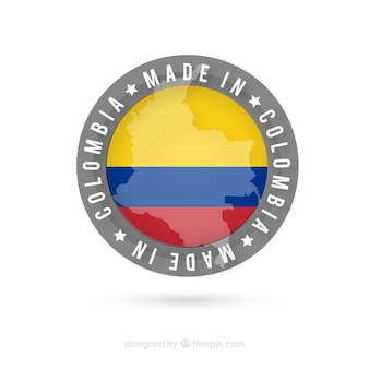 Etiqueta de made in colombia