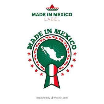 Etiqueta de made in mexico