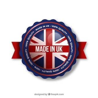 Etiqueta de made in uk