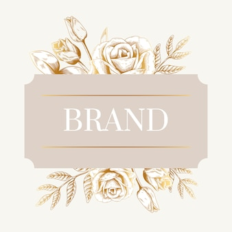 Etiqueta de marca romántica