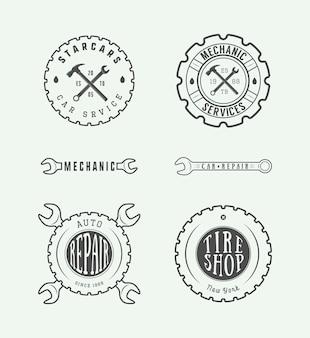 Etiqueta mecanica emblema