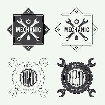 Etiqueta de mecánico