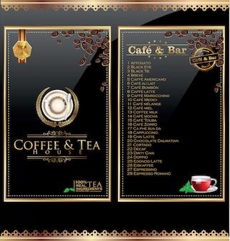 Etiqueta del menú de la cafetería