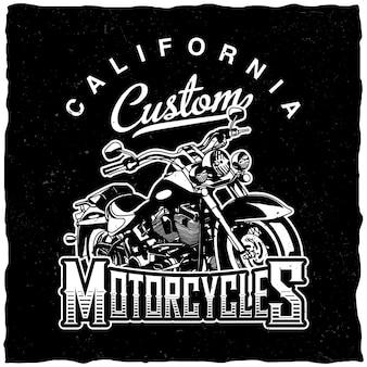 Etiqueta de motocicletas personalizadas de california