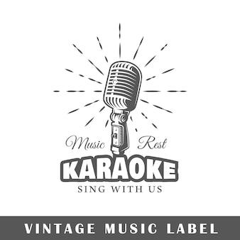 Etiqueta de música aislada sobre fondo blanco