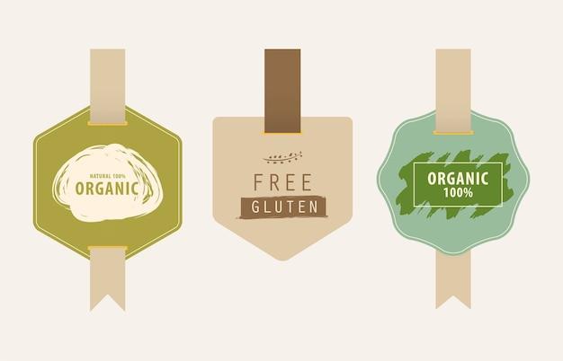 Etiqueta natural y etiqueta ecológica.