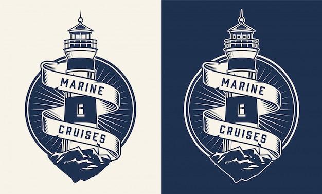 Etiqueta náutica vintage