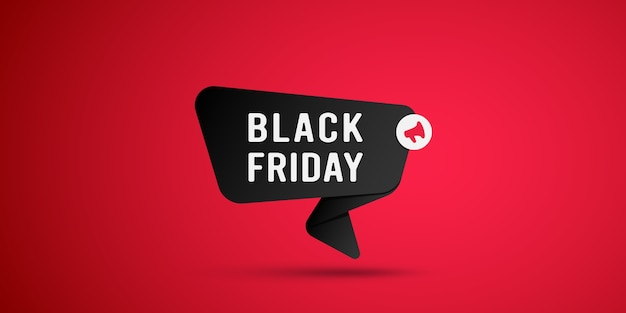 Etiqueta negra de venta de viernes negro.