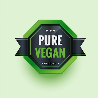 Etiqueta o pegatina de producto ecológico puro vegano