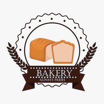 Etiqueta de pan fresco de panadería