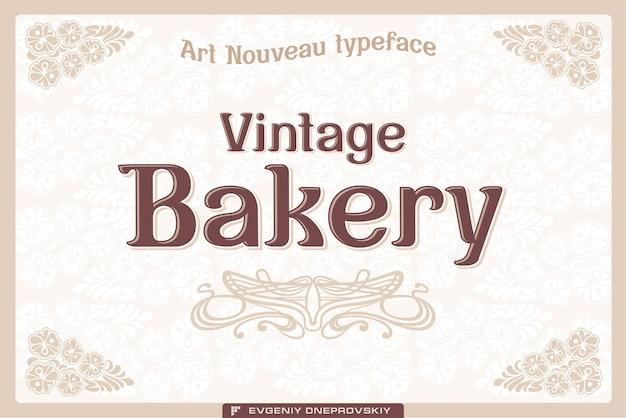 Etiqueta de panadería vintage en el fondo claro