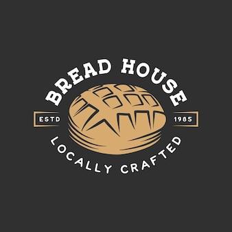 Etiqueta de panadería vintage, insignia, emblema, logotipo