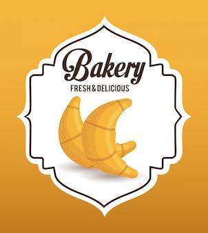 Etiqueta de panadería