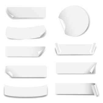 Etiqueta de papel aislado fondo blanco