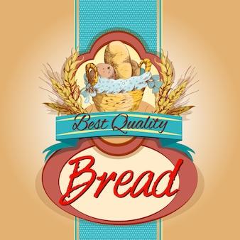 Etiqueta de paquete de pan