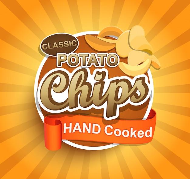Etiqueta de patatas fritas.