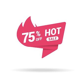 Etiqueta de precio de venta caliente premium