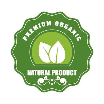 Etiqueta de producto natural y orgánico.