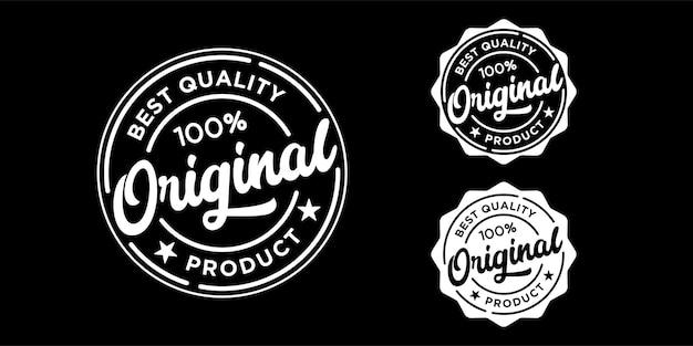 Etiqueta de producto original insignia logo sello o colección de plantillas de diseño de sellos