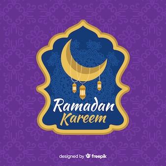 Etiqueta de ramadán en diseño plano
