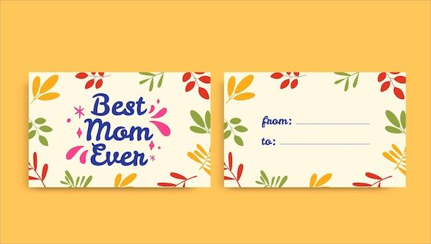 Etiqueta de regalo colorida creativa del día de la madre