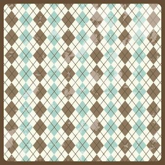 Etiqueta retro sobre ilustración de vectores de fondo patrón