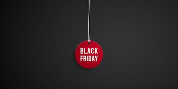 Etiqueta roja de venta de viernes negro.